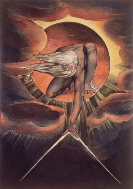 Blake, William: The Ancient of Days. Fine Art Print/Poster. Sizes: A4/A3/A2/A1 (00236)
